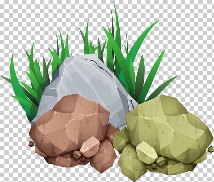 Rock Stone , grass stone, gray and brown rocks PNG clipart.