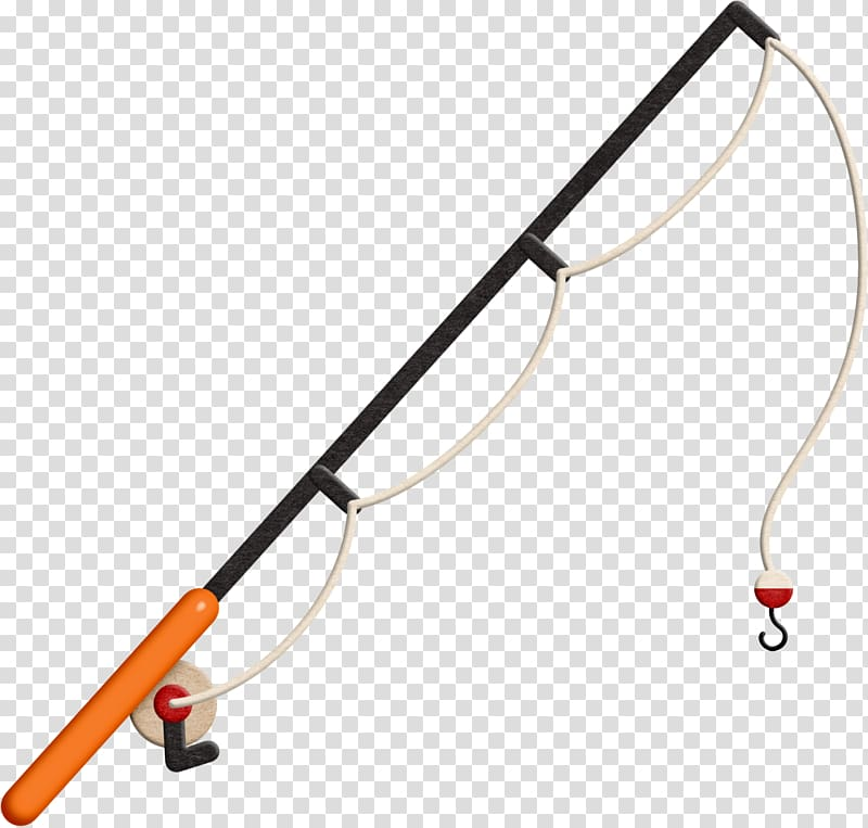 Fishing rod Fishing reel , Hooks transparent background PNG.