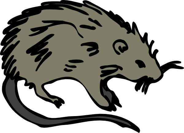 Mouse Rat Rodent clip art Free vector in Open office drawing.