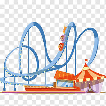 Roller coaster cutout PNG & clipart images.