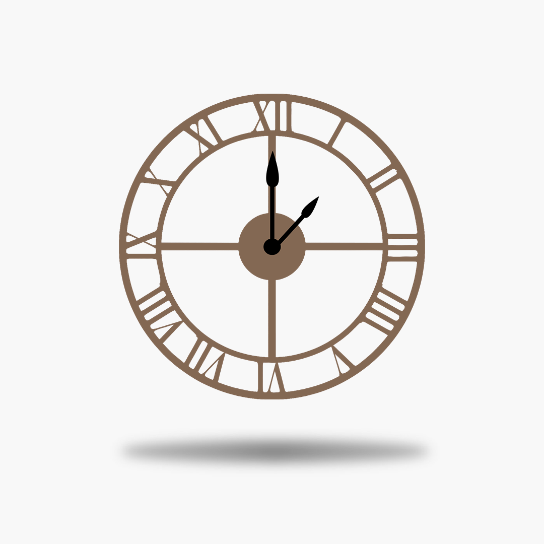 Clipart roman numerals no back rose gold clock png no hands.