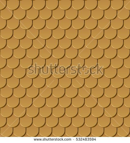 Gold Roof Outline Clipart.