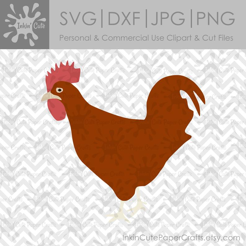 Rooster SVG File, Rooster Clipart, Rooster Clip Art, SVG Rooster, Farm  Animal SVG, Farm Animal Clipart, Chicken svg, Chicken Clipart.