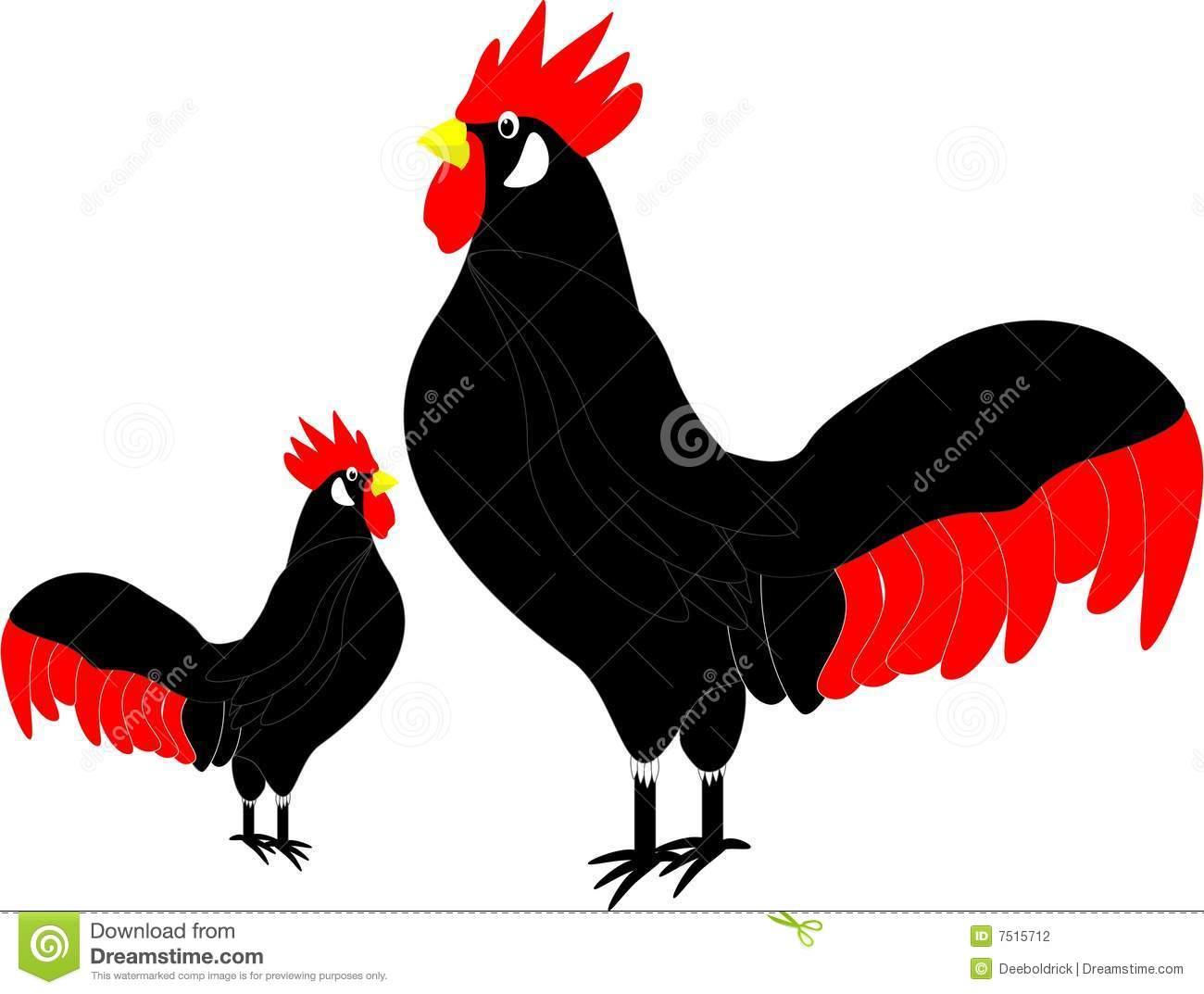 Clip art rooster stock vector. Illustration of proud, illustration.