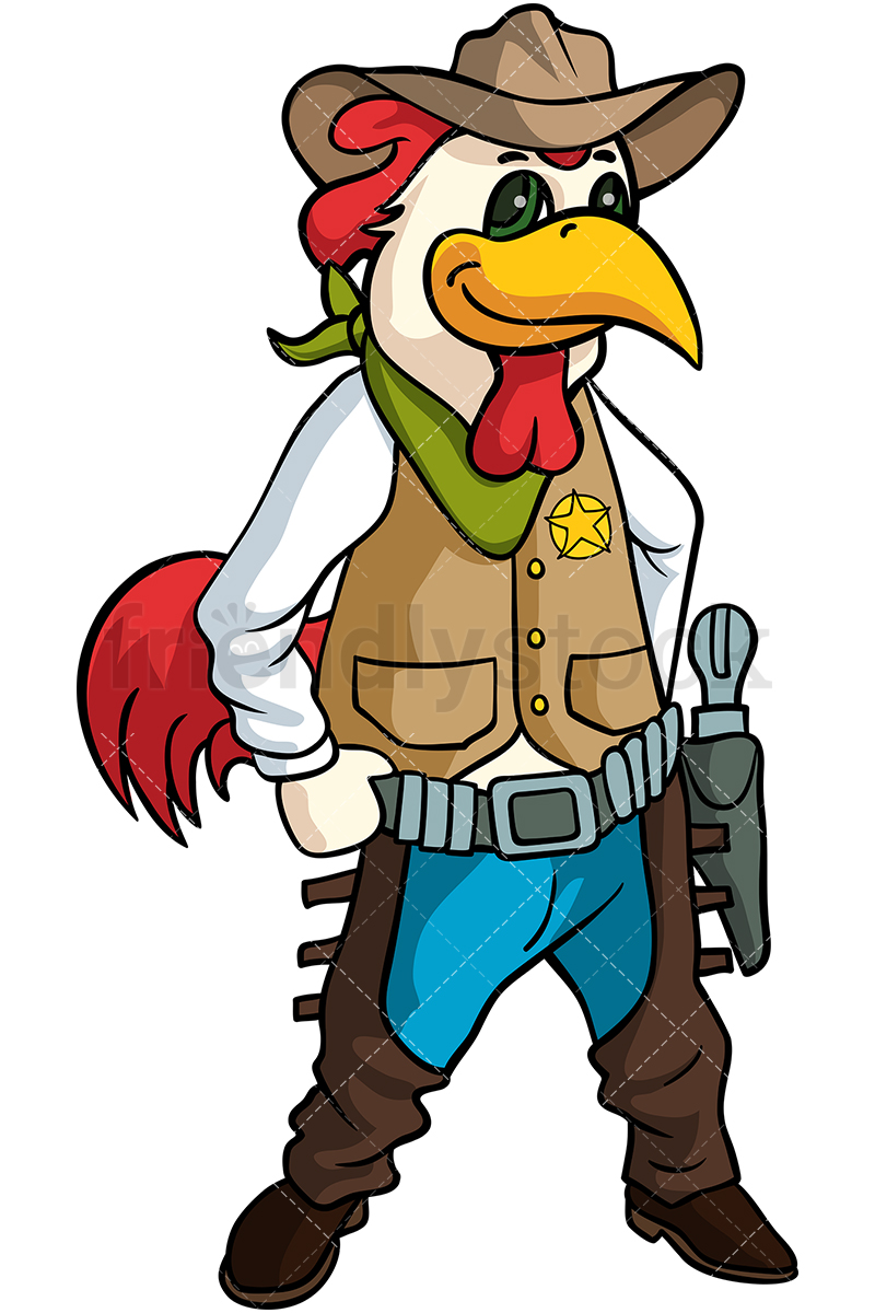 A Rooster Cowboy.