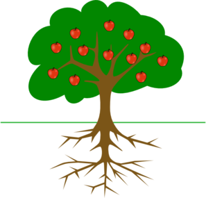 Apple Tree With Roots Clip Art at Clker.com.
