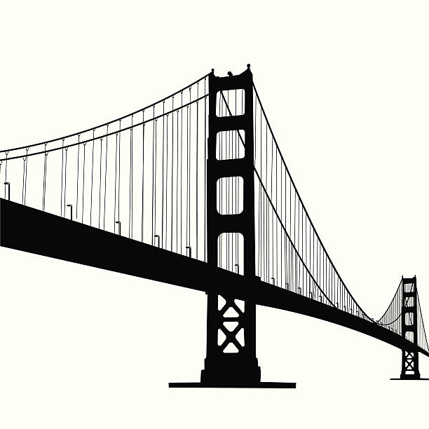 Best Suspension Bridge Illustrations, Royalty.