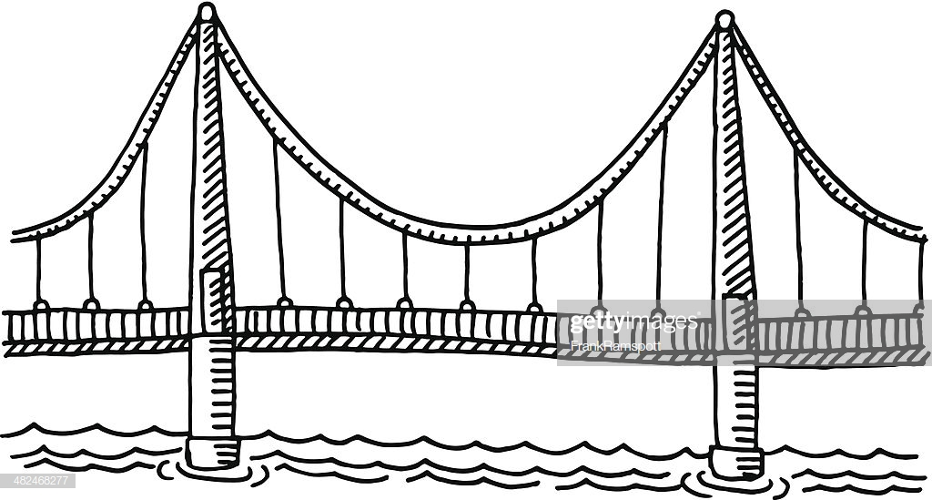 60 Top Suspension Bridge Stock Illustrations, Clip art, Cartoons.