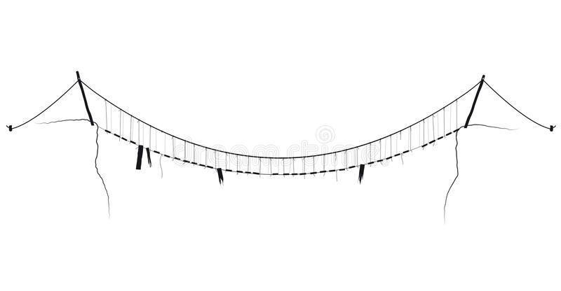 Suspension Bridge Stock Illustrations.