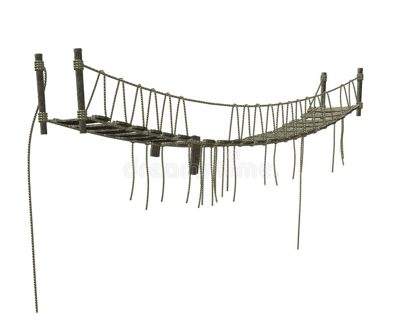 Rope Bridge Stock Illustrations.