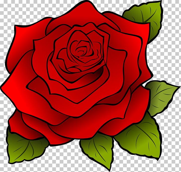 Cartoon Rose Drawing , rosa, red rose illustration PNG.