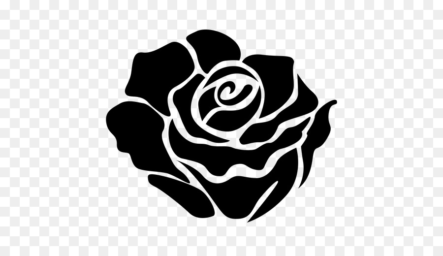 Rose Black And White clipart.