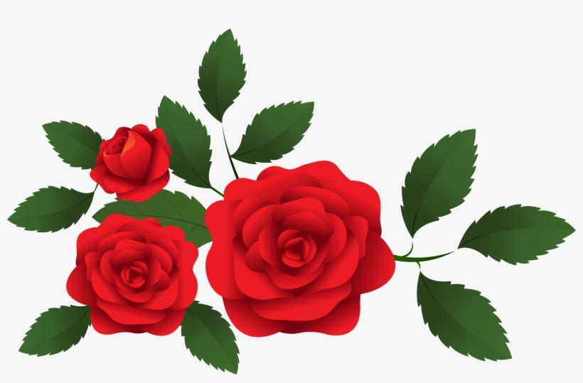 Roses Decoration Clip Art.