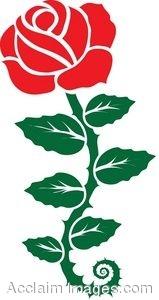 Clip Art of a Rose Stencil.