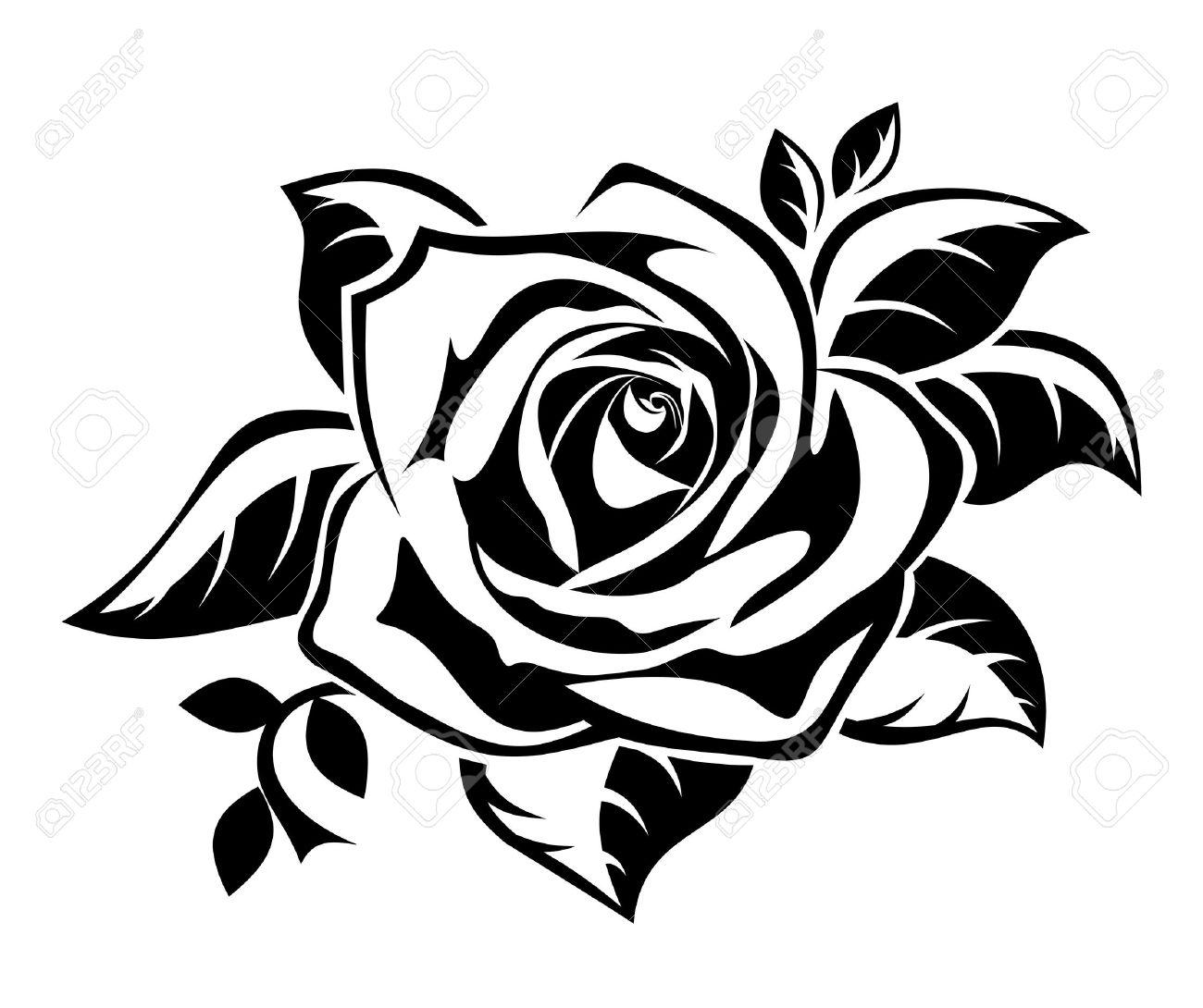 Rose Swirl Vector by joezerosum.