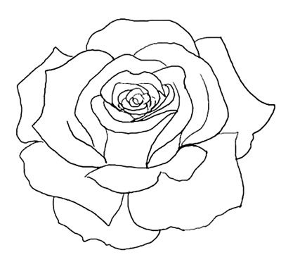 flower outline tattoos.