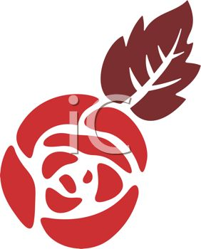 Rose Stencil Design.