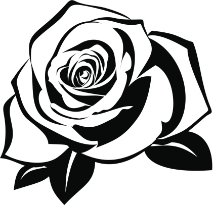 Roses Stencil.