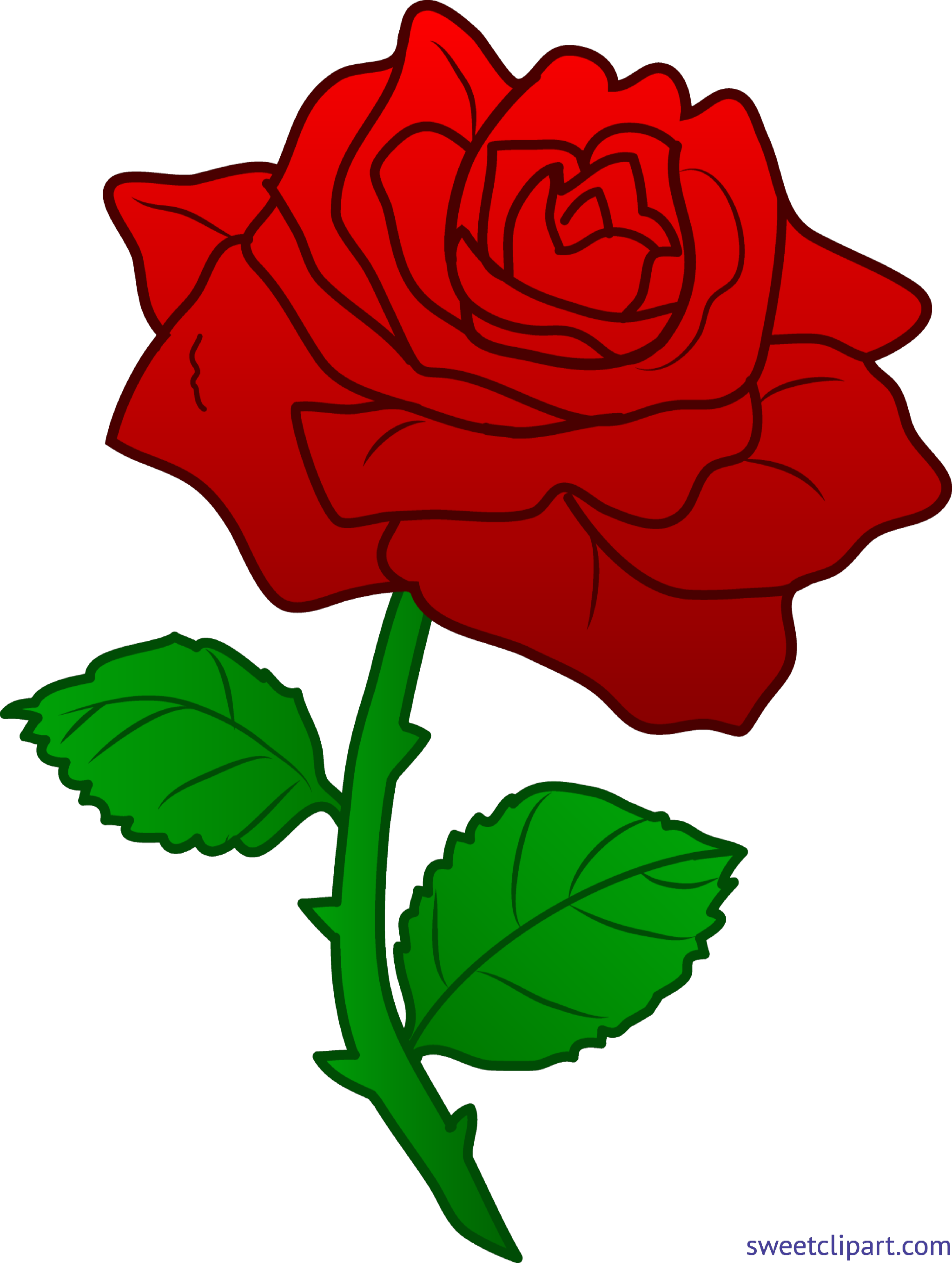 Rose Red 3 Clip Art.