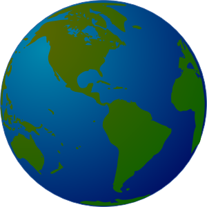 Spinning World Globe Clipart.