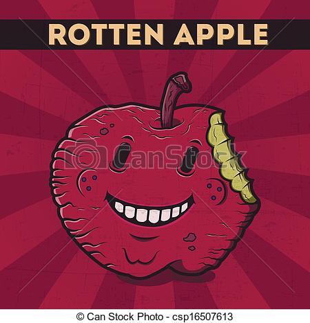 Rotten apple Stock Illustrations. 134 Rotten apple clip art images.