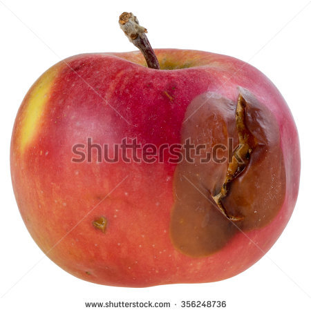 Rotten Apple Stock Images, Royalty.