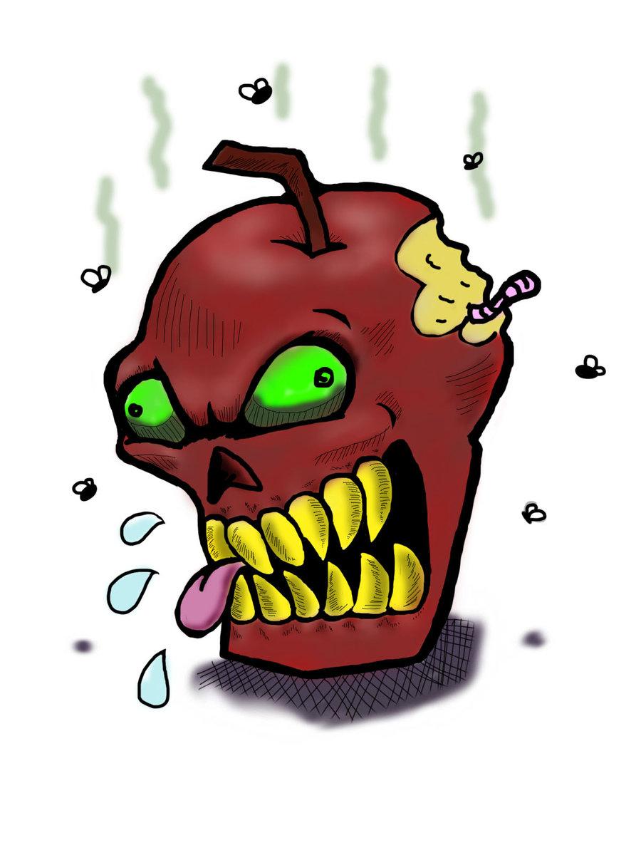 Rotten Apple by GothicDarkShine on DeviantArt.
