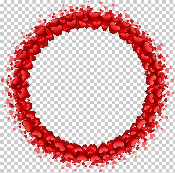 Heart , Heart Round Border Transparent , round red heart.
