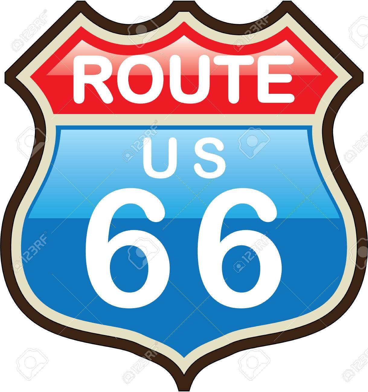 Route 66 vector illustration clip.