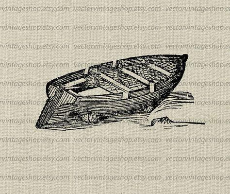 Row Boat Vector.
