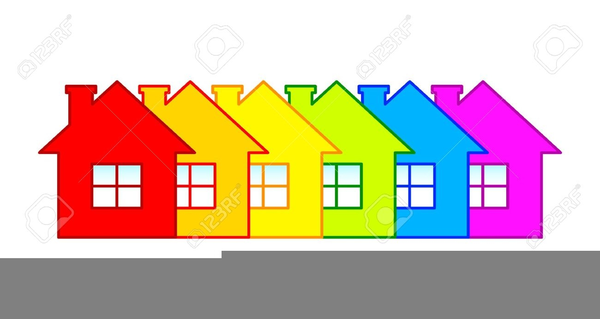 Free Clipart Row Of Houses.