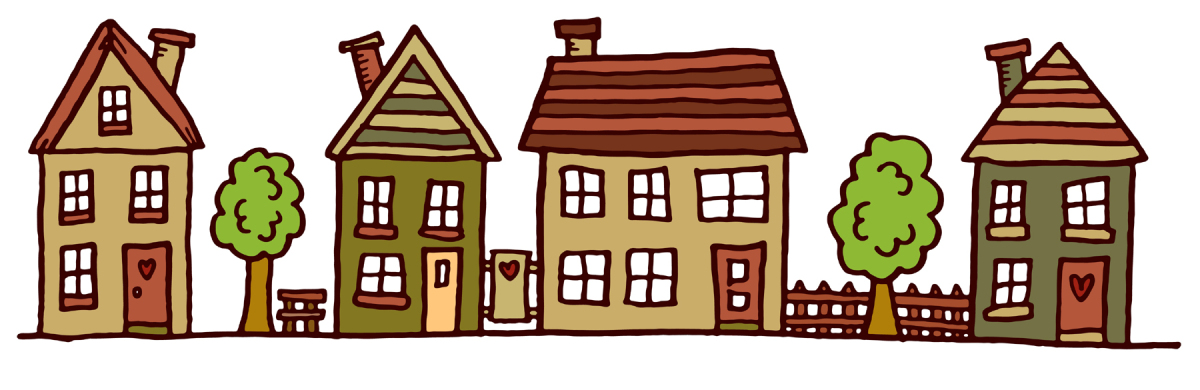 Houses In A Row Clipart.