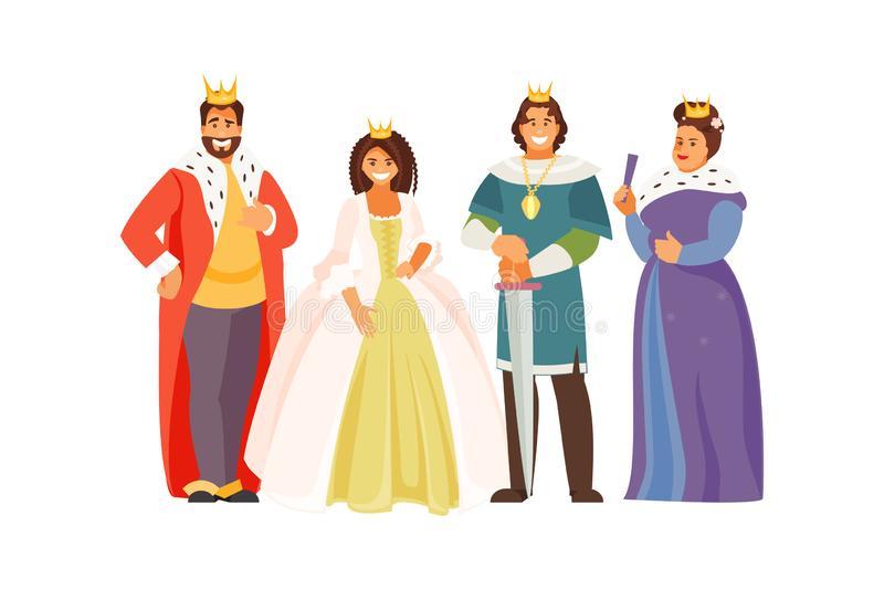 Royal Family Stock Illustrations.