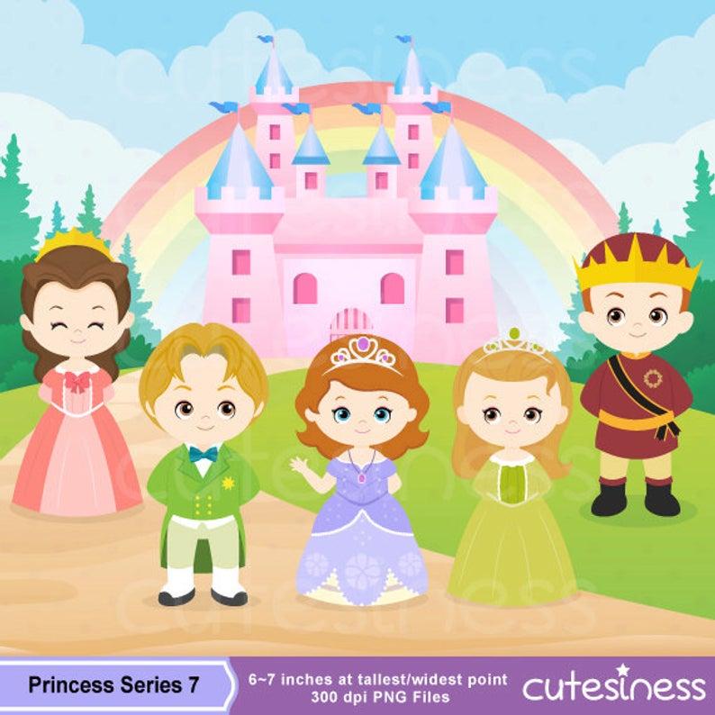 The Royal Family Digital Clipart, Princess Digital Clipart, Princess Clipart.