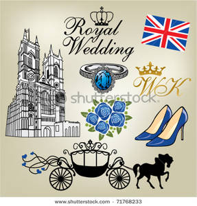 Royalty Free Clipart Image: Royal Wedding.