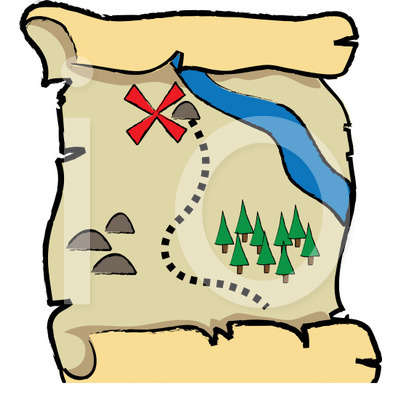 Treasure Map Clipart Royalty Illustration Free.