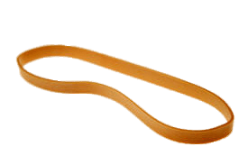 Single Rubber Band transparent PNG.