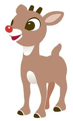 Rudolph red nosed reindeer clipart 6 » Clipart Portal.