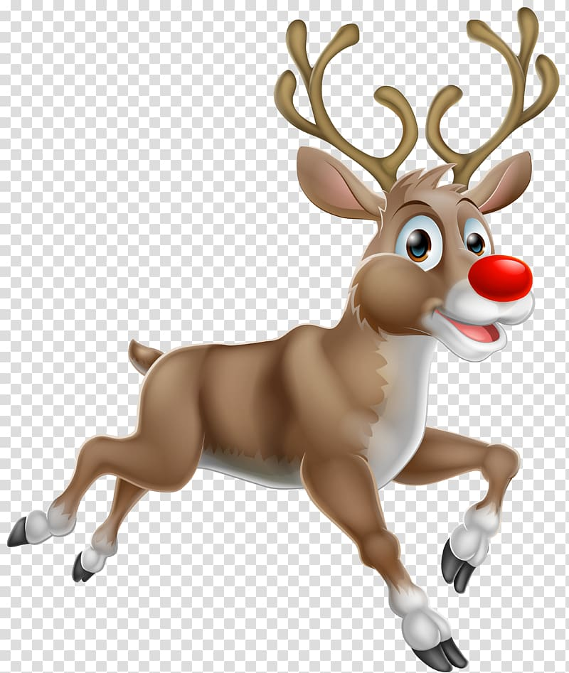 Rudolph The Red Nosed Reindeer illustration, Rudolph Santa Claus's.