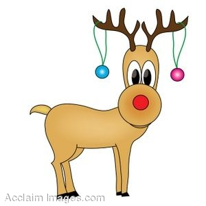 Clipart Pictures Of Rudolph The Red Nosed Reindeer.