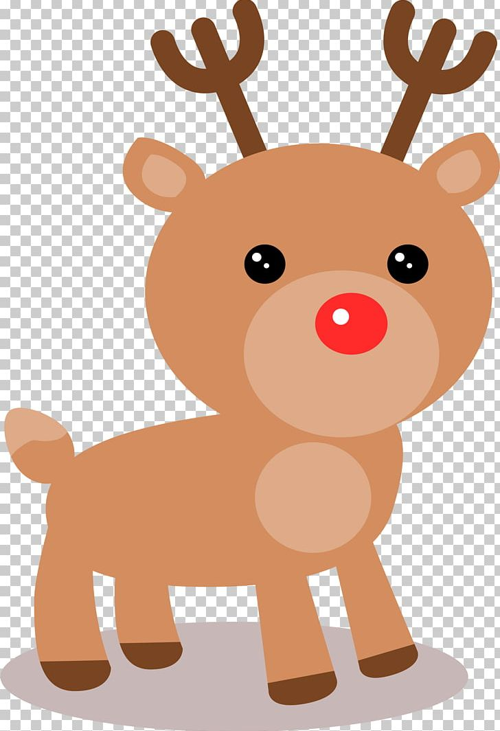Rudolph Reindeer Santa Claus Christmas PNG, Clipart.