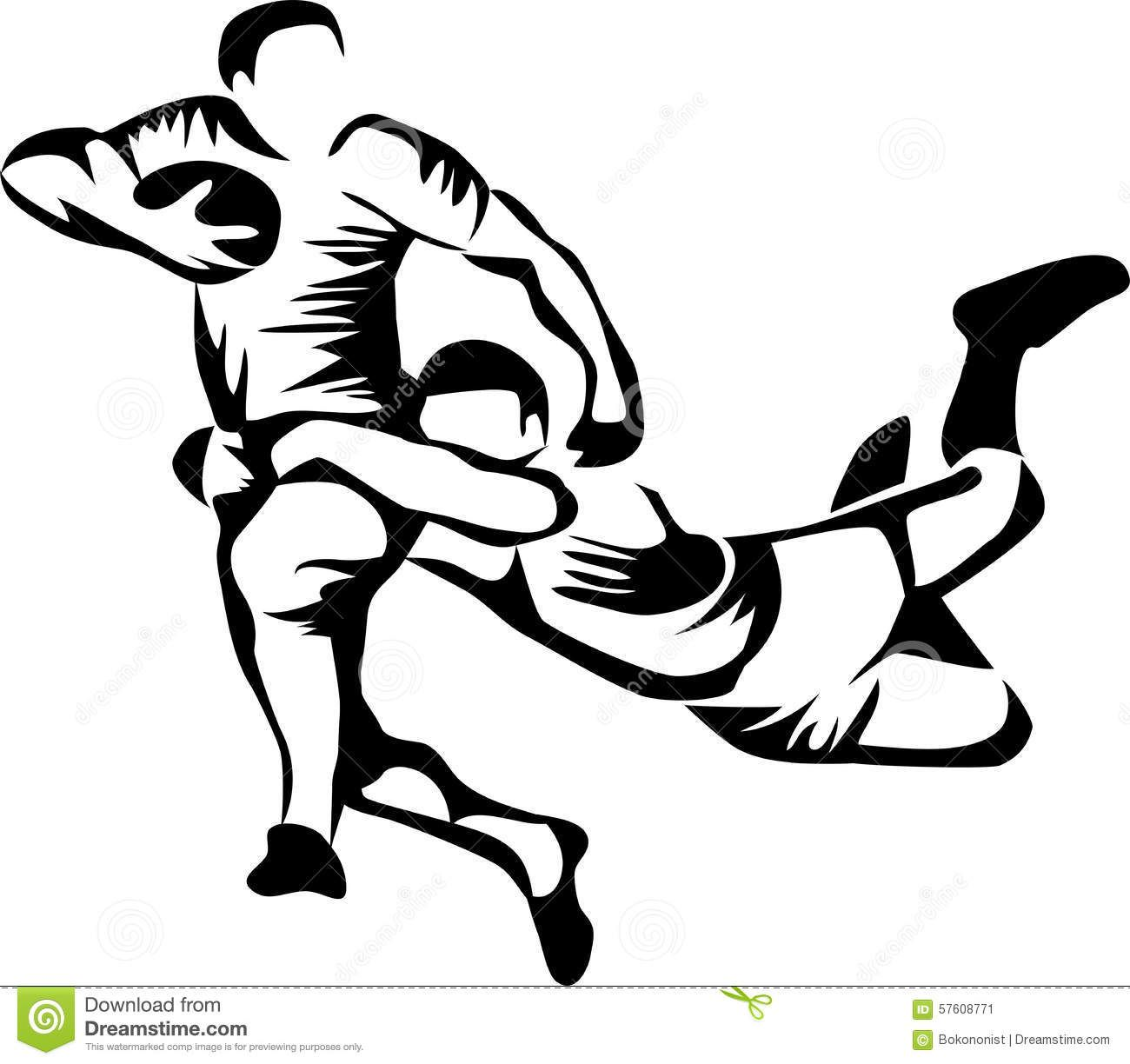Rugby Player Clip Art.