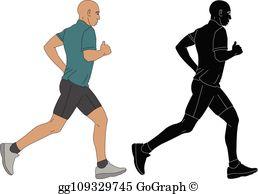 Marathon Runner Clip Art.