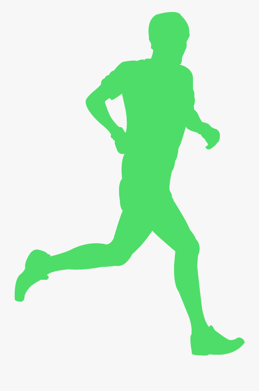 Green Runner Silhouette Vector , Free Transparent Clipart.