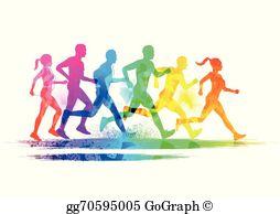 Runners Clip Art.