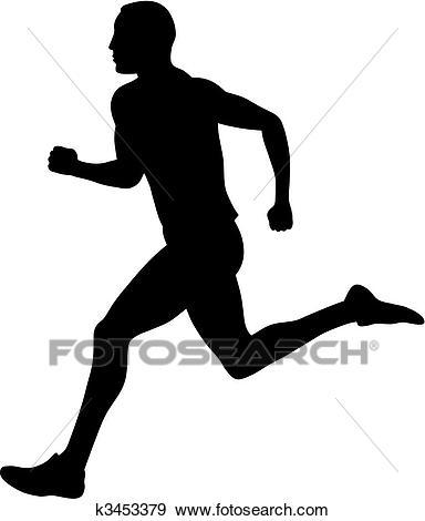 Abstract Vector Illustration Of Marathon Runner.