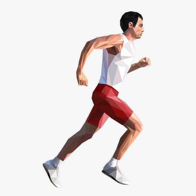The Running Man, Running Vector, Man Vector, Man Clipart PNG.