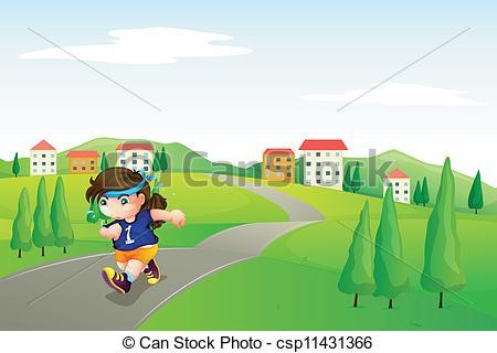 Clipart Running Road.