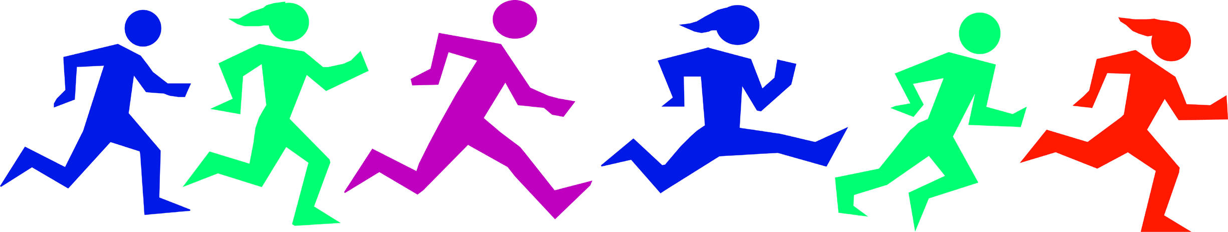5k Run Clipart.
