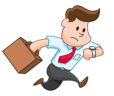 Student rushing clip art Transparent pictures on F.